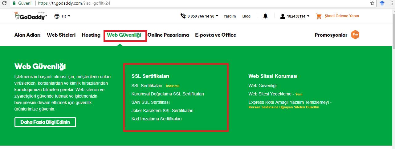 Godady Purchase Ssl Certificate Medianova Docs